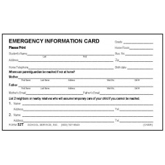52T - Emergency Card w/Tylenol